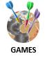 Geogames, Geodarts, Geoquiz, Geopuzzle