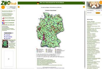 zoo karte deutschland Zoosf hrer Deutschland   Landkarten und Stadtplan Index