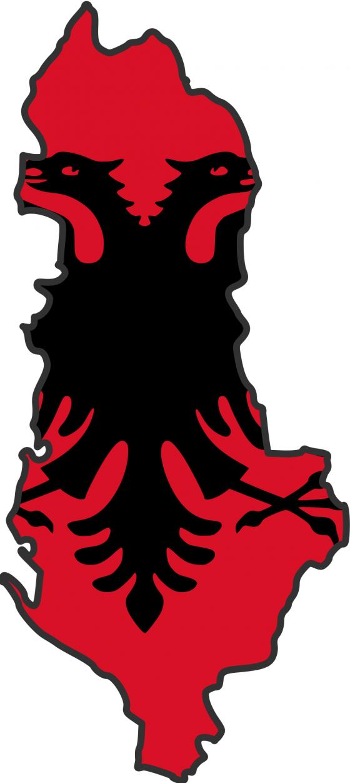 albania_flag_map