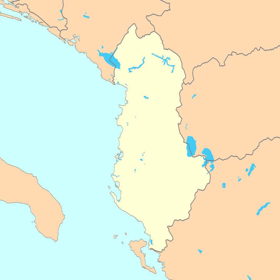 albania_map_blank