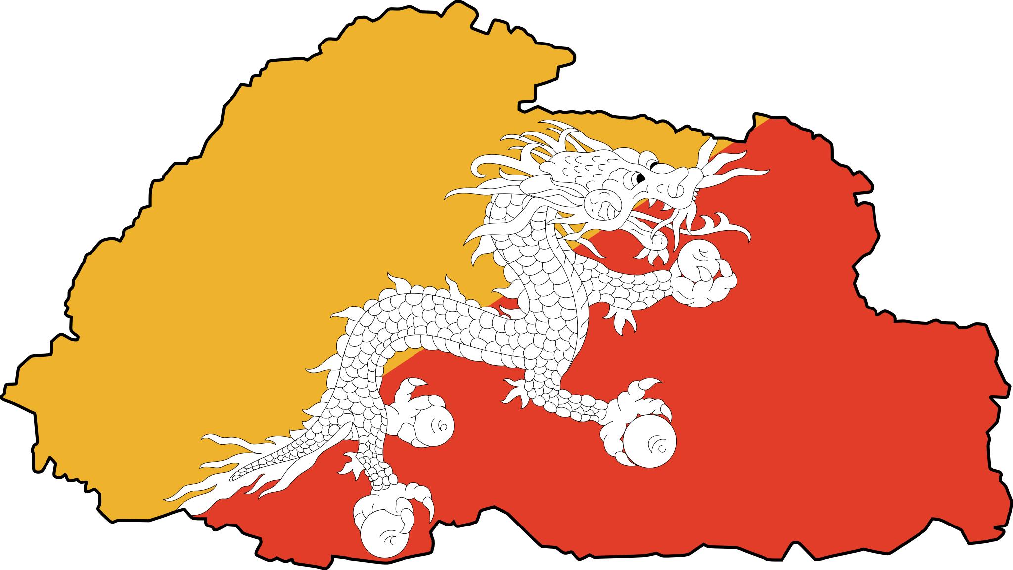 bhutan_flag_map