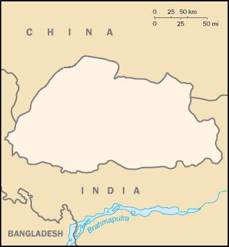bhutan_map_blank