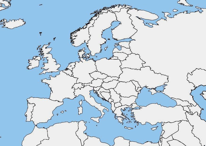 Leere Landkarte